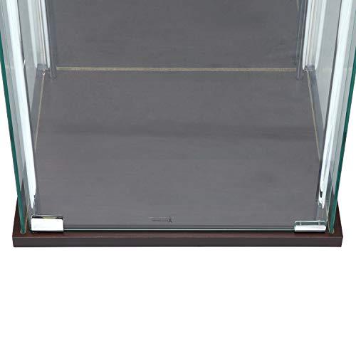 不二貿易コレクションケースフィギュアケース3段高さ86cmブラウン背面ミラー付き97336