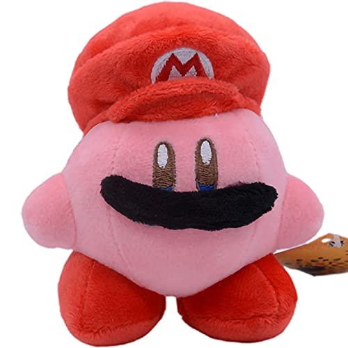 Peluches 10cm Kirby Cos Super Mario Soft Stuffed Plush Dolls Anime Periférico Personajes Clásicos Decoración Almohada De Juguete