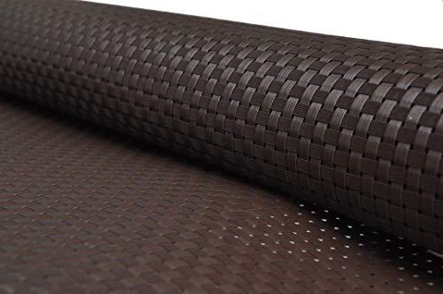 Smart Deko Braun 0,9x3 Meter PE Rattan Sichtschutzmatte, Balkonverkleidung, Windschutz, UV-Schutz für Balkon (0,9x3 Meter)