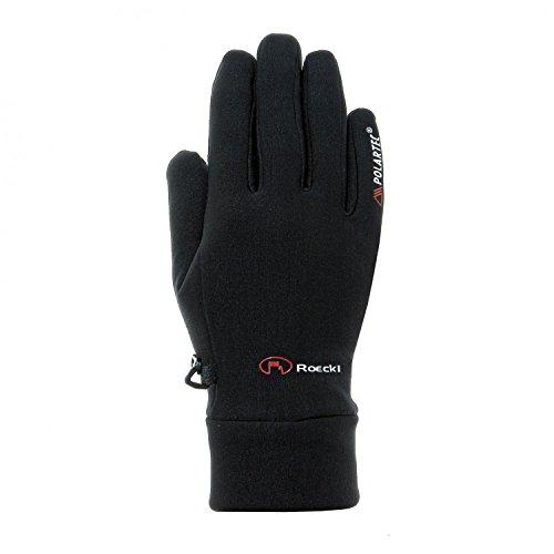 Roeckl Sports Handschuhe Kasa, Outdoor Multisport, PolartecPowerStretch, Schwarz, 7.5