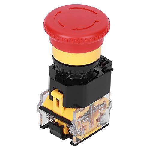 Interruptor de botón de parada de emergencia de 3 piezas, orificio de montaje de 440 V 10 A 22 mm, accesorio industrial rojo