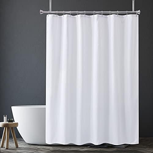 Amazer Stoff Duschvorhang Liner, weiße Polyester Stoff Duschvorhang Liner Badezimmer Duschvorhänge, wasserdicht, Hotelqualität, 72 x 72 Zoll