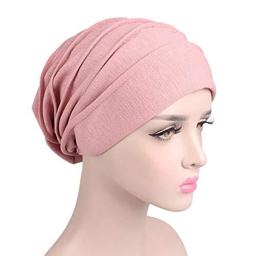 Tukistore Gorro Sombrero Pañuelo Turbante Mujer,Cancer Chemo Sombrero Beanie Bufanda Floral Wrap Cap Cabeza de Turbante Muslim Turbante Cap para Càncer Quimioterapia Chemo Pèrdida de Pelo Cabello