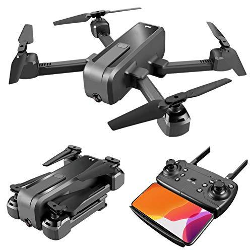 SNIIA Drone con Cámara HD 4K LED Quadcopter Batería De Litio 1300mAh con Video En Vivo VR Radio Control Flips De 360 ° Helicóptero Plegable Controlado A Distancia-Flujo Óptico