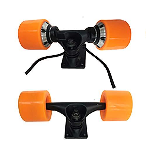 Elektro-Skateboard-Rad-Zubehör, Elektro-Skateboard-Antrieb Kit Antriebsnabe Brushless Motor-Rad-350W / 350W * 2 Hohe Leistung Hohe Elastizität PU-Rad, Skateboard Versammlung,Dual drive motor + bridge