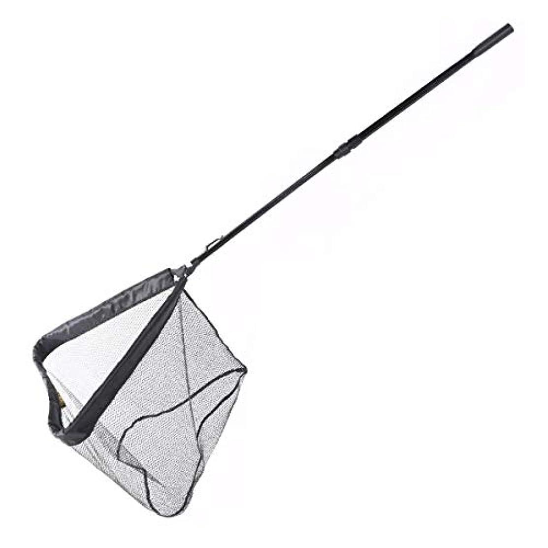 隙間うま超えるランディングネット タモ網 ラバー ネットタイプ 軽量 アルミ 210cmまで伸縮 ワンタッチ 折りたたみ 玉網