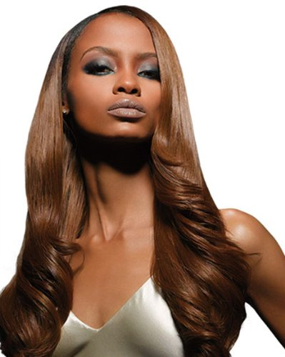 """Outre Velvet Remi 100% Human Hair - Yaki Weaving 12"""" Color 1B Off Black"""