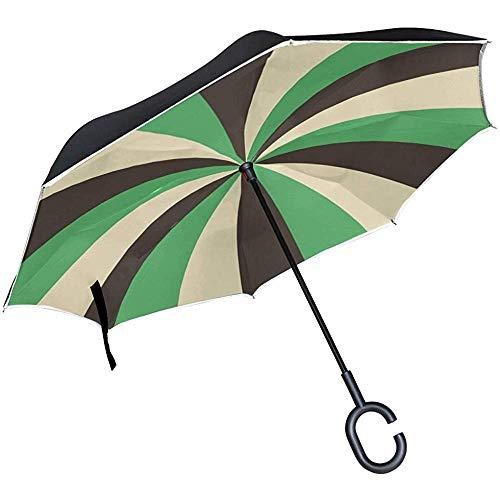 Alice Eva Umgekehrte Umbrella Art Graphic Design dekorative Clip Art Regenschirme Reverse Taschenschirm Big Straight Umbrella