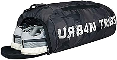 Urban Tribe Plank 23 Liters Sports Gym Bag with Separate Shoe Compartment (Camo)