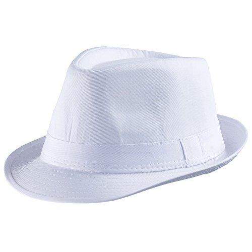 Dress Up America - Sombrero Blanco de Fieltro para niños, Color Blanco, Talla única (942-W)