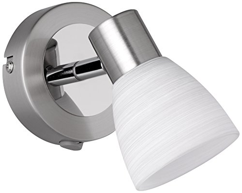 Trio Leuchten LED-Spot Carico, nickel matt / chrom, Glas weiß gewischt 871570107