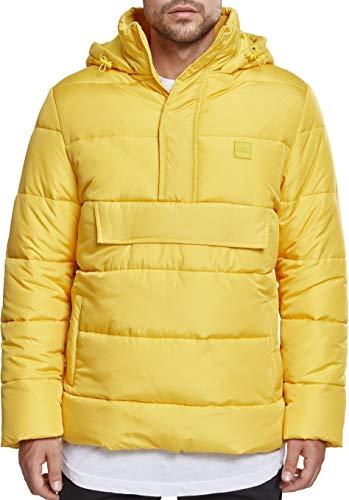 Urban Classics Pull Over Puffer Jacket Chaqueta, Amarillo (Chrome Yellow 01148), XXL para Hombre
