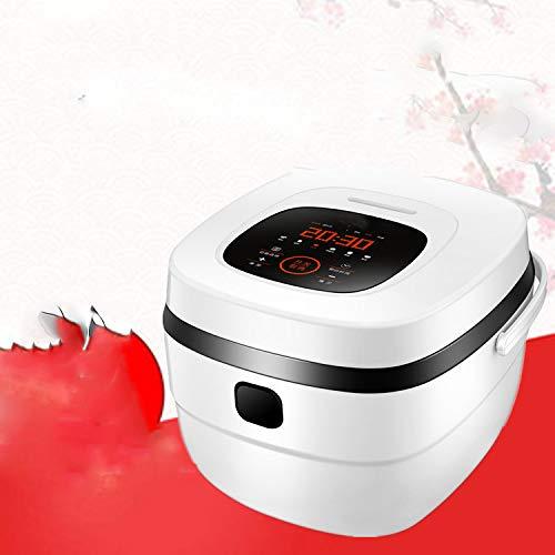 Rice cook Haushaltsküchengeräte, Intelligente Reiskocher, Multifunktions-Reiskocher,Weiß,5L