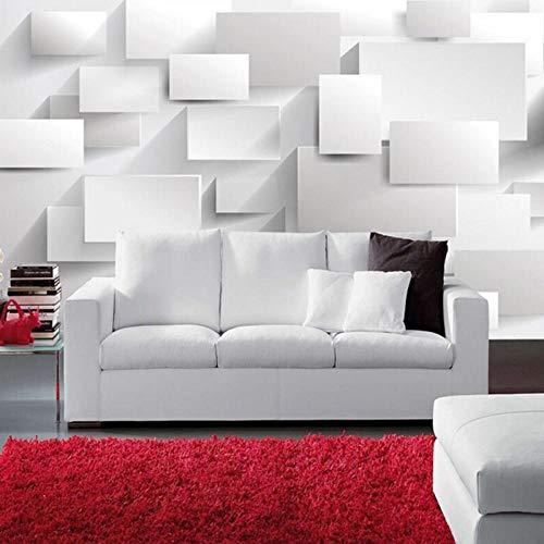 Modern 3D groot muurbehang, woonkamer bank doos kubus behang muren, kunst slaapkamer TV achtergrond 3D muurschildering behang 280 cm (B) x 180 cm (H)