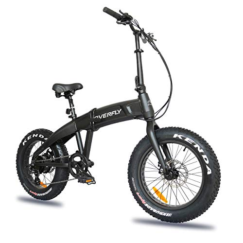 Overfly Hummer 20'x4'Fat Tire Electric Folding Bike for...