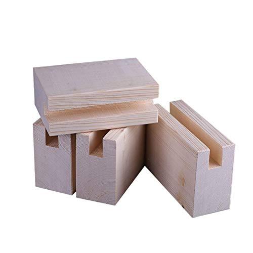 Heavy Duty Lift Möbel Riser, Holzbett Riser, erhöht die Höhe der Möbel um 10 cm Austauschbare Möbel Beine Schränke Füße, für Sofa Couch Sessel Schrank TV-Ständer, Eiche, 4er-Set (10x3x10cm)