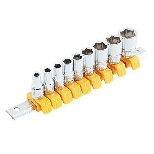 SK11 ソケットセット 6角 SHS209M クリップ色:黄 差込角:6.35mm 9点 1セット