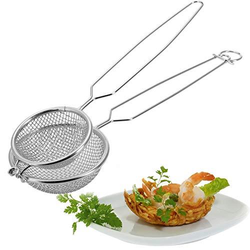 Westmark Nestbacklöffel für Gemüse-Körbchen, Durchmesser: 10 cm, Länge: 35 cm, Rostfreier Edelstahl, Silber, 12432270