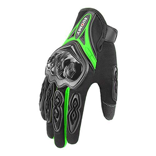 IAMZHL Motorradhandschuhe Guantes Moto Reithandschuhe Motos Handschuhe Atmungsaktiv Motorrad Vollfinger Wasserdicht Winddicht Winter-SU-10 Green-2-L
