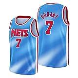 WWWJ Camiseta de Baloncesto para Hombre-Brǒǒklyn Nets Kévin Duränt T-Shirt, Negro 2020/21 Jersey auténtico Jersey - Edición de la Ciudad Limited Blue-M