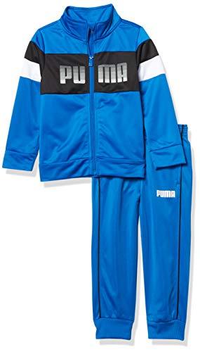 PUMA Boys' Track Jacket & Jogger, Bright Blue, 6