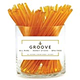 Groove Clover Honey Sticks | 50 Pack | All Natural - Local - Pure Clover Honey Stix | Certified Kosher Honey Straws | Perfect Snack For Kids, While On The Go, At The Office, And To Share With Others