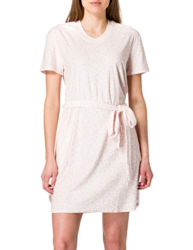 Schiesser Damen Sleep Lounge Dress 1/2 Arm, 90cm Nachthemd, zartrosa, 42
