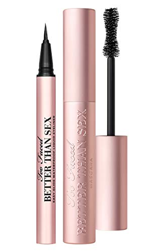 TOO FACED Full Size Better Than Sex Iconic Lashes & Liner Set (BETTER THAN SEX MASCARA AND LIQUID EYELINER)