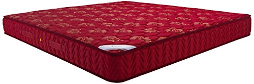 Amazon Brand - Solimo 6-inch Medium King Size Bonnell Spring Mattress (Maroon, 78x72x6 Inches)