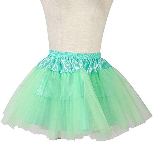 35cm シンプルタイプ チュール パニエ コスプレ 衣装 ダンス バレエ お手軽版 ミント