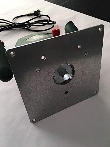 Tuneon Platte Einlegeplatte Stahl Frästisch für Bosch POF 1400 ACE 1200 AE Oberfräse
