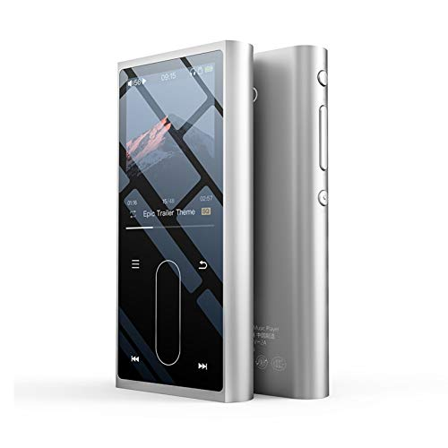 YaGFeng FiiO M3K Mini HiFi Hi-Res Reproductor De Música Portátil Sin Pérdidas MP3 FLAC Sport Audio Digital AK4376A DAC 24Bit 192Khz Recoder,Silver