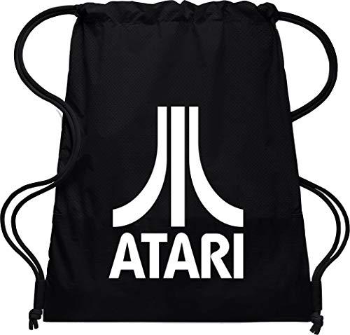 Camisetas EGB Bolsa Mochila Atari ochenteras 80´s Retro (Negro)