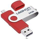 LEIZHAN 64GB メモリ・フラッシュドライブ マイクロメモリスティックAndroidの電話USBフラッシュドライブペンドライブコンピュータのディスクパープル …