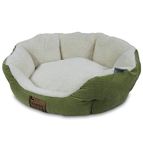 Hundekissen Hundematratze für kleine mittlere große Hunde, orthopädisches Hundebett kuschelig Schlafplatz -Cord grün_L.
