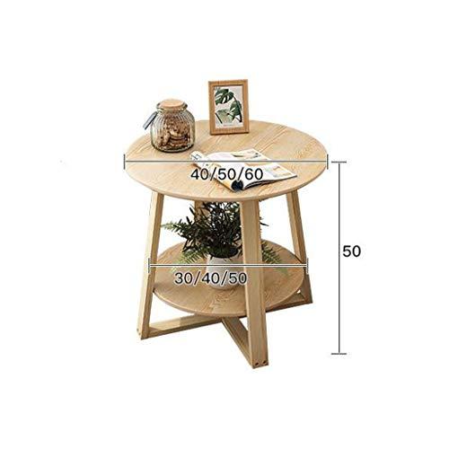 Bijzettafel, ronde sofa, bijzettafel, salontafel, kleine ronde eettafel, lamp, bijzettafel, theetafel met massief houten poten