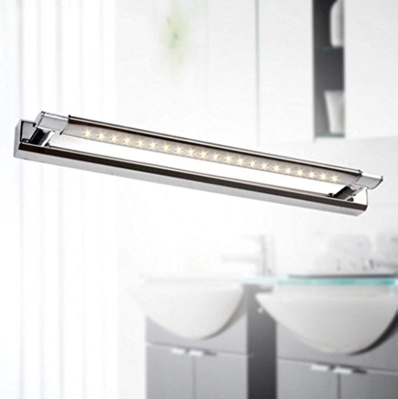 Edelstahl-Spiegel-vordere Lampen-Schlafzimmer-Badezimmer-Badezimmer-Spiegel-vordere Unterlampen-Wand-Lampe (farbe   Warmwei-7w620mm)