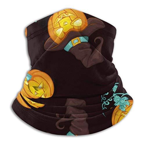 Lzz-Shop Kürbis-Kostüm, für Halloween, Halsumfang, Angelschal, Sportschal, Gesicht
