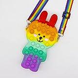 ZHYX Pop Gigante it Fidget Toy, Pūsh Pǒp Bubble sensoriales Fidget Toys,Popit Grande Juguete antiestres Juego,A-Ribbonstyle