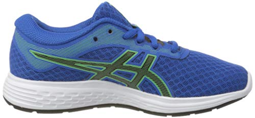 Asics PATRIOT 11 GS Running Shoe, Tuna Blue/Black, 3.5 UK