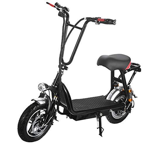 Liujie Elektrische scooter met inklapbare stang, hogesnelheids-elektrische scooter met alarmsysteem voor off-riding road en 350 W motor mini-scooter voor volwassenen