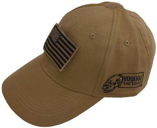 Voodoo Tactical 20-9351 Contractor Baseball Cap mit Flagge, Tan, Coyote