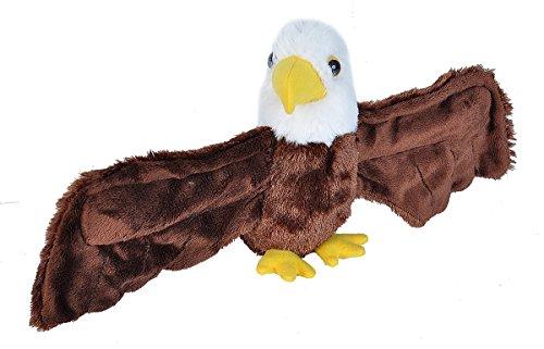 Wild Republic Huggers Bald Eagle Plush Toy, Slap Bracelet, Stuffed Animal, Kids Toys, 8'