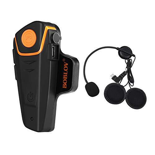 Boblov BT-S2 1000 M BT - Funda para motocicleta, Bluetooth, intercomunicador, interfono, FM