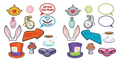 Beistle Alice im Wunderland Photo Fun Alice In Wonderland Photo Fun Signs Mehrfarbig