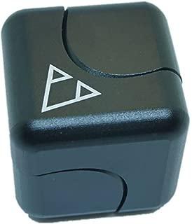 DMaos、Meteorite最新のFidget Spinner Cube TriスピンダイスNEW WAYフィンガーハンドのおもちゃスムーズメタルアルミニウム銅ステンレススチールセラミック安定ベアリングクルセイダー超耐久性EDCハイスピード - ブラック