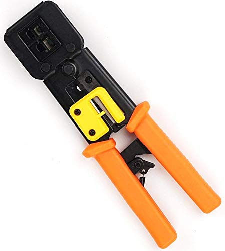 Draagbaar Ethernet-netwerk Hardware-tool Handnetwerk LAN Rj45-kabel Crimper-tang Multifunctioneel netwerkreparatietool Rj12 Cat5 Cat6 8p8c Kabels Stripper Professionele heavy-duty tangenset voor het
