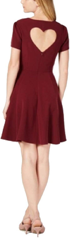 Maison Jules Heart Cutout Fit & Flare Dress