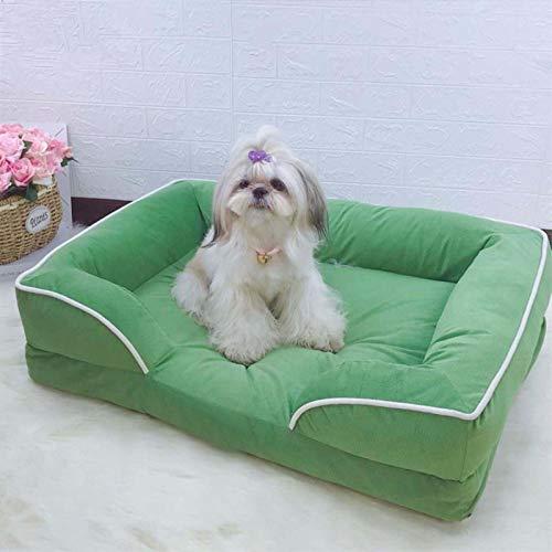 Extraíble Sofá Para Perros No-palo Cama Perro Dormir Ultra Suave Cama Para Gato Anti-ansiedad Anti-resbalón Limpieza Fácil Cama Para Mascotas,Para Perros Gatos Colchon Perro-F 108*78*22cm(43*31*9inch)
