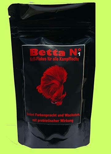 Zooweber Betta Nr1 Kampffisch u. Labyrinth Fischfutter 100 ml Krill Flakes Flockenfutter